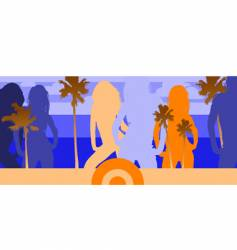 disco beach party vector image