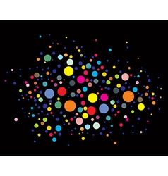 disco lights dots vector image vector image