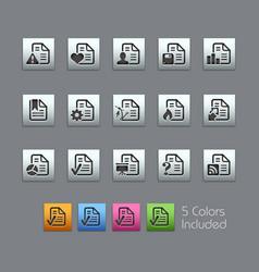 Documents icons - 2 of 2 - satinbox series vector