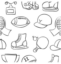Doodle of sport equipment collection stock vector