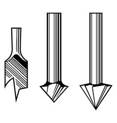 Drill bits vector