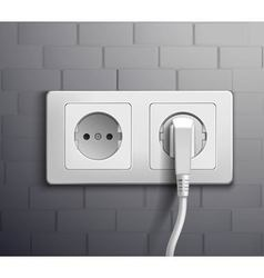 Electric Socket Cabel Plugged vector