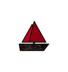 Fishing flat icon Ship vector