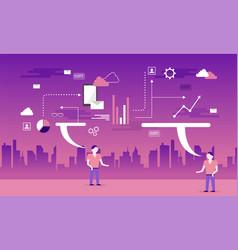 flat marketing design interior program vector image