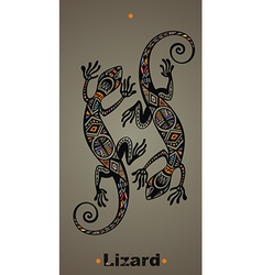 Gecko lizard in in tattoo style vector image