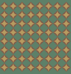 Geometric pattern with green diamonds vector
