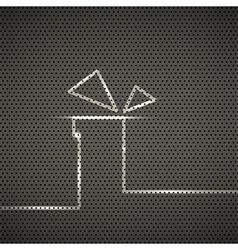 Gift metal texture background vector