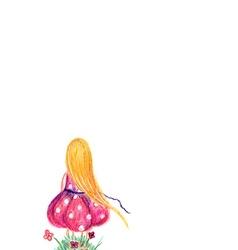 GirlW vector image