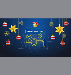 happy new year 2021 banner or greeting card vector image