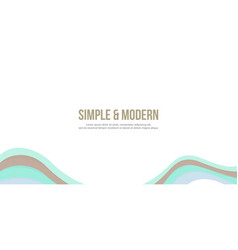 header website abstract simple style vector image