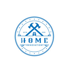 home repair construction logo icon home service d vector image