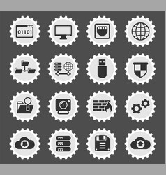hosting provider icon set vector image
