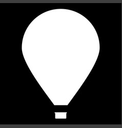 Hot air balloon it is the white color icon vector