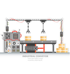 Industrial manufacturing line with automated vector