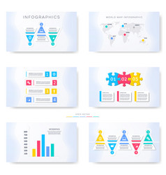 infographic template for presentation slides vector image