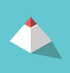 isometric pyramid red top vector image