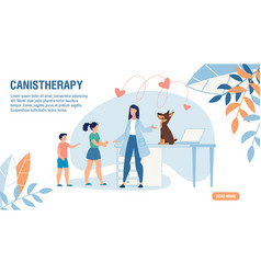 landing page offering for canistherapy service vector image