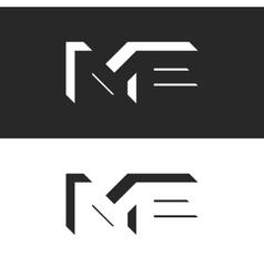 letters me logo initials wedding invitation vector image