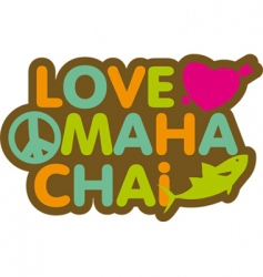 Love mahachai vector