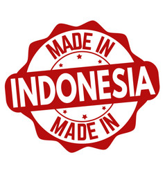 Made in indonesia sign or stamp vector