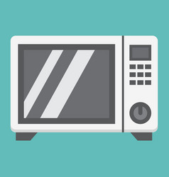 microwave oven flat icon household and appliance vector image