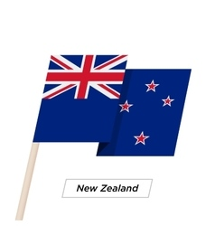 New Zealand Ribbon Waving Flag Isolated on White vector image