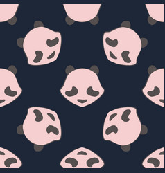 panda bear cute animal seamless pattern vector image