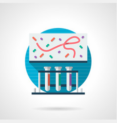 Pathogens research color detailed icon vector