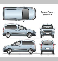Peugeot partner tepee 2015 professional combi van vector