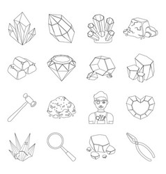 Police set icons in line style big collection of vector