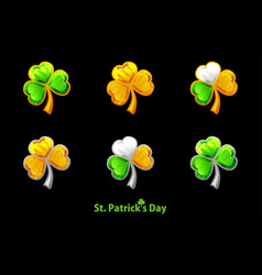 precious clover for st patricks day vector image