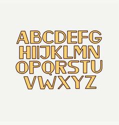 Retro typeface font alphabet type uppercase vector