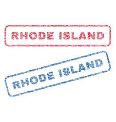 rhode island textile stamps vector image