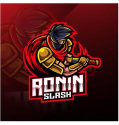 Ronin sport mascot logo design vector