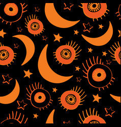 seamless background for happy halloween vector image