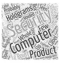 Security holograms Word Cloud Concept vector