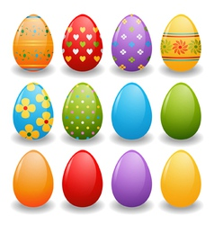 set of bright eggs vector image