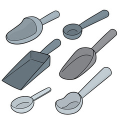 Set of scoop vector