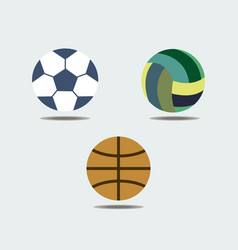 set of sport balls icons vector image