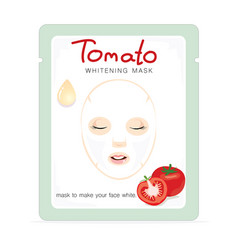 Tomato whitening mask vector