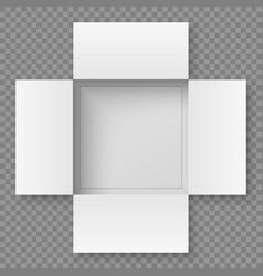 Top view open box vector