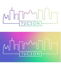 tucson skyline colorful linear style editable vector image