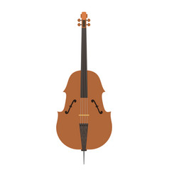 Violin with bow isolated fine performance stringed vector