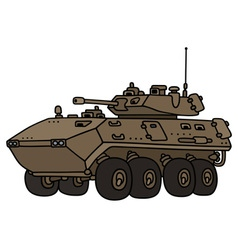 Wheeled armoured vehicle vector image