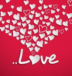 White paper hearts vector