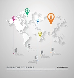 World map infographics eps10 vector