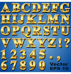 Gold Metal Letters vector image vector image