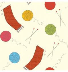 knitting wallpaper vector image