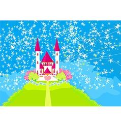 Magic Fairy Tale Princess Castle vector image vector image