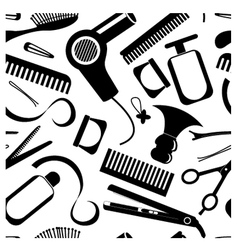 Seamless hairdressing pattern vector image vector image